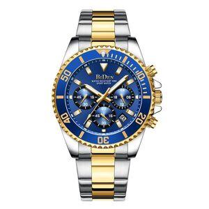 DHgate wristwatches biden men's chronograph watch quartz movement fashion sports business 30m waterproof analog date elegant gift