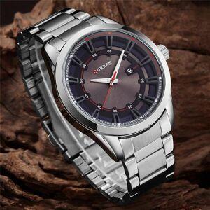 DHgate wristwatches curren full analog display date men's quartz watch business watches men 8246 relogio masculino