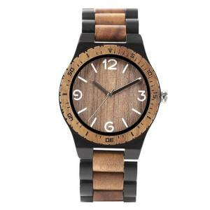 DHgate wristwatches 2021 arrival business nature full bamboo wood men's watches creative timber analog quartz wrist watch band