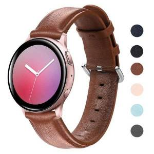 DHgate watch bands galaxy active 2 strap for samsung 42mm 44mm cow leather wrist belt smart watchband 20mm active2