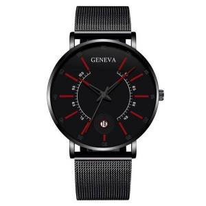 DHgate of wormhole ultra-thin han edition watch simple men's fashion watches male students mesh belt calendar quartz wristwatches