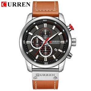 DHgate wristwatches curren brand men watches with chronograph sport waterproof clock military luxury men's watch analog quartz 8291