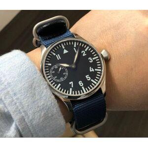 DHgate wristwatches 44mm no logo asian 6497 gooseneck tube 17 jewels mechanical hand wind movement men's watch luminous watches gr65-20