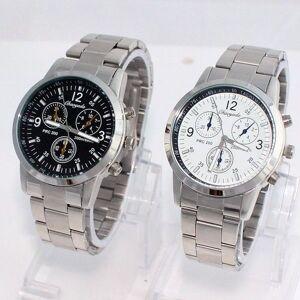 DHgate wristwatches fashion full steel men business watch jewelry analog sports luxury dress wristwatch round dial z41
