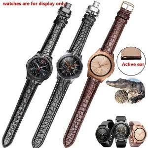 DHgate watch bands real crocodile skin strap black brown wristband fit samsung galaxy gear s2/s3/s4 sport smart accessories