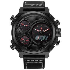 DHgate wristwatches kademan brand mans with chronograph sport waterproof clock alarm military luxury analog quartz leather wrish business watches