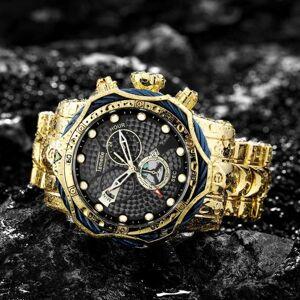 DHgate wristwatches temeite sports quartz watch stylish oversize mens wristwatch stainless steel strap waterproof analog clock mal
