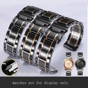 DHgate watch bands luxury ceramic watchband 20mm 22mm strap for samsung galaxy watch42 / 46mm smart sports gear s3 sport