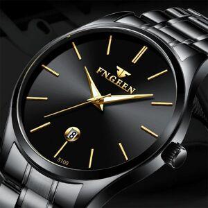 DHgate analog sports wristwatch ultra-thin relogio masculino fngeen display date men quartz watch business wristwatches