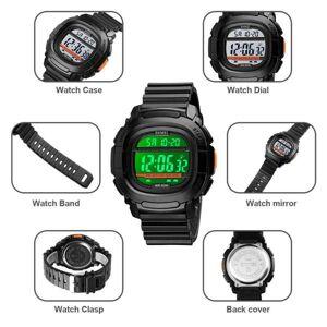DHgate wristwatches skmei 1657 men analog digital watch countdown military sport alarm clock waterproof outdoor male children gift reloj inteligent