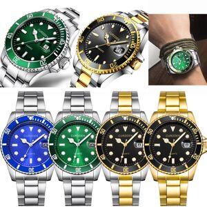 DHgate wristwatches 2021 men luxury business fashion military stainless steel date sport quartz analog clock saat xfcs relogio
