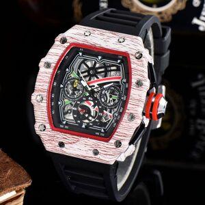 DHgate 1-7mens montre de luxe watches silicone strap fashion designer watch sports quartz analog clock relogio masculino