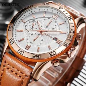 DHgate wristwatches 2021 ochstin watch for men military leather nylon wrist watches mens casual sports clock chronograph wristwatc