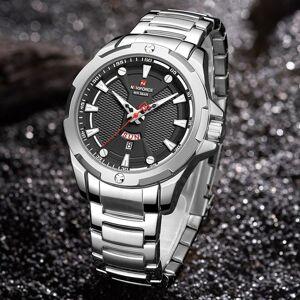 DHgate wristwatches men watches naviforce analog watch stainless steel waterproof quartz wristwatch date relogio masculino