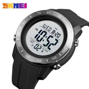 DHgate wristwatches skmei big dial sport men watch 2 time led digital for mens waterproof chrono count down male hour montre homme 1524