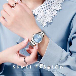 DHgate wristwatches quartz wristwatch fashion ladies wrist relogio feminino creative geometric round steel band calendar watch