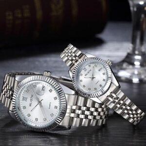 DHgate wristwatches exquisite round dial luminous analog quartz couples wrist watch gift clock relogio mas-culino reloj hombre mujer