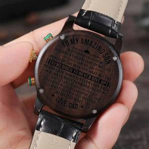 DHgate wristwatches to my son luxury fashion leisure 30m waterproof engraved watches calendar 24-hours seconds dail analog men