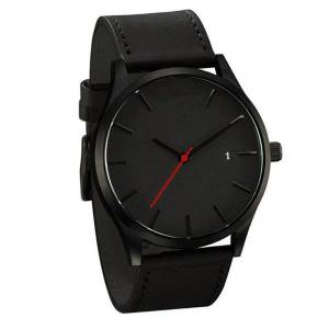 DHgate wristwatches disu men couple watch leather band analog quartz round wrist business man watches mens 2021 relogios masculino
