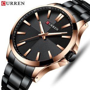 DHgate wristwatches curren men analog quartz watch fashion luxury business watches mens simple casual stainless steel wristwatch relogio masculino
