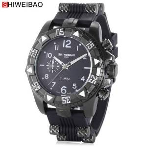 DHgate wristwatches big watch men luxury quartz mens watches silicone bracelet sport clock man analog casual relogio masculino