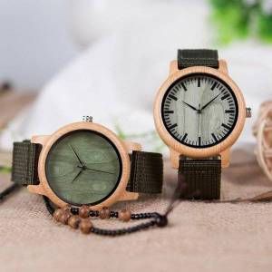 DHgate wristwatches bamboo wooden watch bobobird quartz timepiece for father's day gift japan analog ladies men wrist watches reloj hombre
