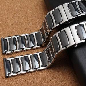 DHgate watch bands watchband stainless steel wrap ceramic strap 20mm 22mm band for huawei smart gt2/watch 2pro/samsung gear galaxy mens ladys