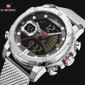 DHgate wristwatches naviforce dual display quartz watch men auto date led analog digital watcheswaterproof military relogio clock