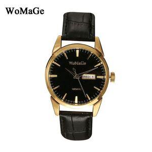 DHgate wristwatches relogio masculino men watch business date calendar analog leather strap womage gold case quartz women watches