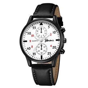 DHgate wristwatches fashion men's leather military alloy analog quartz wrist watch business watches