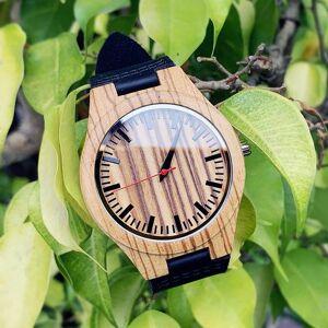 DHgate wristwatches 2021 festival memorial day gift enmex dark colour zebra wood wristwatch work of art handmade natural quartz watches