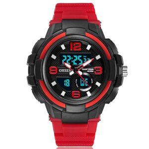 DHgate wristwatches ohsen 5bar chronograph digital watch led men military watches outdoor sport analog wristwatch alarm clock red black reloj hombr