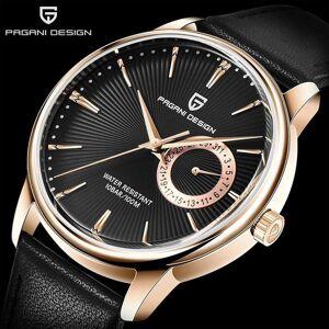 DHgate wristwatches pagani design men's quartz watch simple fashion leather strap vh65 sports waterproof relogio masculino