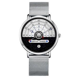 DHgate wristwatches luxury watches men thin steel quartz wristwatch star moon waterproof creativ design analog watch fashion clock reloj hombre