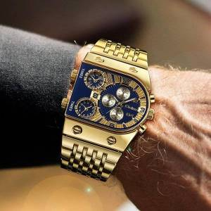 DHgate wristwatches oulm big dial watch men male gold wrist square golden chronograph watches relogio masculino 2021