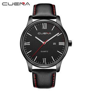 DHgate wristwatches reloj hombre watch men cuena erkek kol saati faux leather mens blue ray glass quartz analog watches with calendar