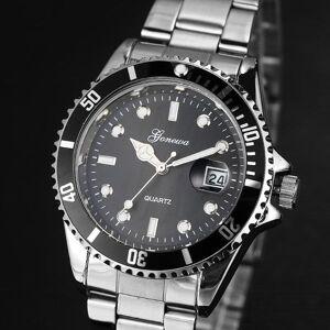 DHgate wristwatches goa men fashion military stainless steel date sport quartz analog wrist watch