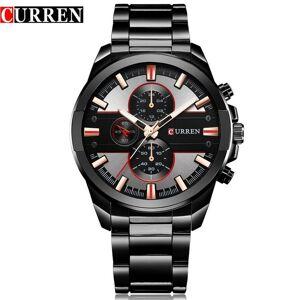 DHgate wristwatches curren men wrist watch fashion analog sports quartz stainless steel male clock horloges mannens relojes