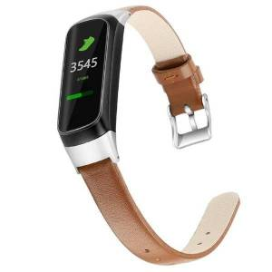 DHgate watch bands leather compatible with samsung galaxy smart band slim & thin replacement wristband wb208