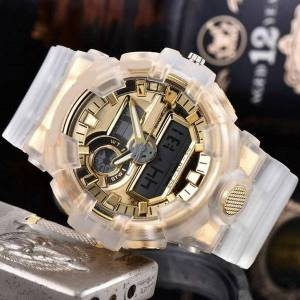 DHgate wristwatches led digital watch for men brand men's luxury casual sport watches silicone band all the pointers are working