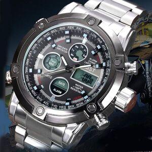 DHgate wristwatches luxury amst digital quartz analog display dual time men stainless steel sport military man waterproof wrist watche