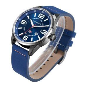 DHgate wristwatches mini focus men sports quartz analog date clock leather waterproof sport wrist watch relogio masculino