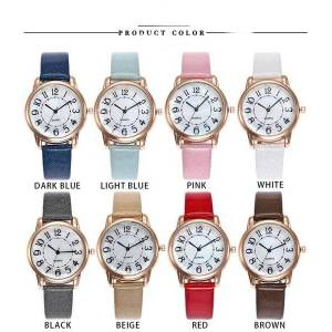 DHgate wristwatches fashion brand women's watches quartz leather strap ladies dress luxury watch analog mens wrist relogio