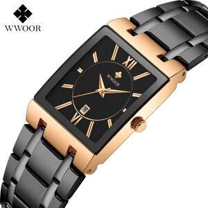 DHgate wristwatches lokmat men's watch wristwatch stainless steel band rectangular dial analog quartz clock waterproof calendar watches