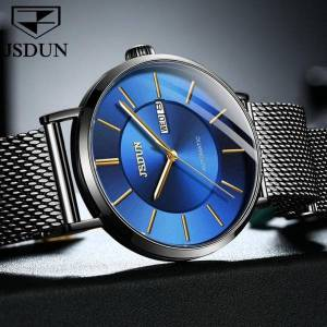 DHgate mechanical watch men men's automatic watches male black mesh belt waterproof wristwatch reloj hombre wristwatches