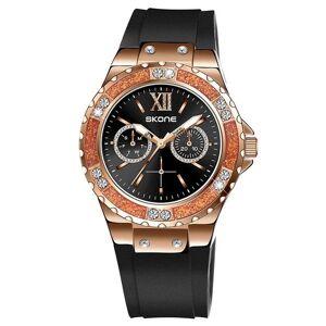 DHgate wristwatches luxury diamond men's sports watch fashion large dial waterproof black blue silicone strap neutral quartz wristswatch man