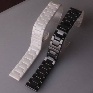 DHgate watch bands watchband ceramic strap 14 15 16 17 18 19 20 21 22mm watches band for huawei smart gt2/ 2pro/samsung black white bracelets