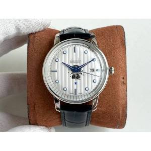 DHgate men's watch luxury business 9015 imported movement wind case 316 stainless steel italian ultra-thin calf leather