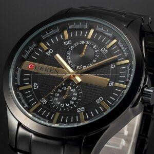 DHgate wristwatches curren men full steel business watch sport watches analog display quartz wristwatch relogio