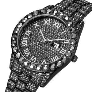 DHgate wristwatches 2021 missfox men's watches modern diamond waterproof red watch men 18k gold man analog quartz